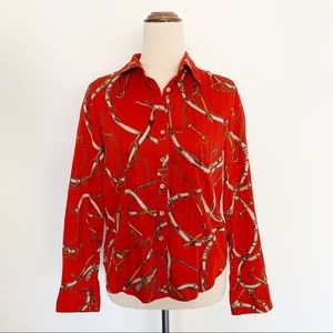 Talbots Long Sleeve Western Button Up